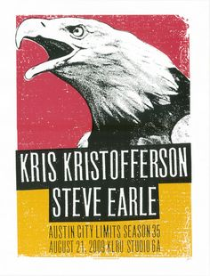 gig poster for steve earle and kris kristofferson