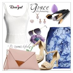 """""""Rosegal"""" by sabine-rose ❤ liked on Polyvore featuring Summer, Blue, beach and rosegal"""