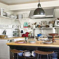 Our Best Cottage Kitchens Our Best Cottage Kitchens  Warm and Colorful Kitchen  SouthernLiving.com ...