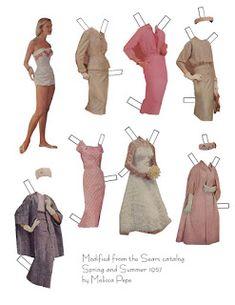 Miss Missy Paper Dolls: Sears Catalog Doll Novi Stars, Missing Missy, Joan Walsh, Virtual Garage Sale, Ziegfeld Girls, Rita Hayworth, 2 Girl, Jane Fonda, Paper Dolls