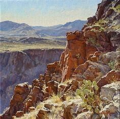 Above Dark Canyon by Mark Haworth, Oil, 20 x 20 Watercolor Landscape, Landscape Art, Landscape Paintings, Oil Paintings, Beautiful Paintings, Beautiful Landscapes, Art Gallery, Desert Art, Le Far West