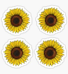 Sunflower sticker sheet Pegatina