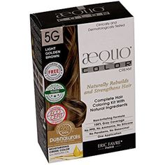 AEQUO 5G LIGHT GOLDEN BROWN PERMANENT NATURAL CREME HAIR COLORING KIT >>> Click image to review more details. (This is an affiliate link and I receive a commission for the sales)