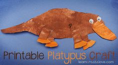 Bored? Why not create your own Pippa Platypus! #Australia #crafts #platypus