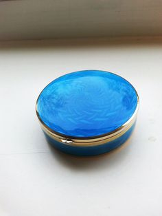 A guilloche enamel silver box made in Germany ? Former Collection.