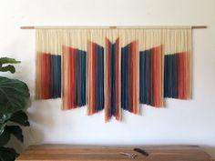 """""""Sunburst"""" dip-dyed wool macrame wall hanging by Kate Crowley-Gilbert Macrame Wall Hanging Diy, Macrame Art, Macrame Design, Macrame Projects, Wool Wall Hanging, Wall Hangings, Yarn Wall Art, Diy Wall Art, Weaving Art"""
