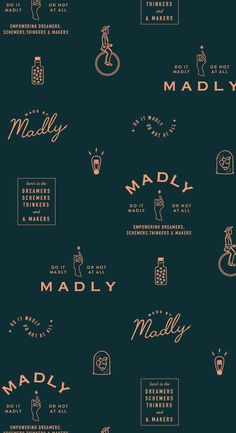 Madly branding pattern by Little Trailer Studio