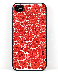 Red flower print iPhone case. http://www.etradesupply.com/accessories/accessories/cases.html