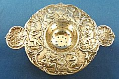 Tea Strainer German 800 Silver.  Click on the image for more information.