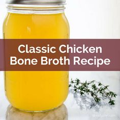 Get Dr. Kellyann's Classic Chicken Bone Broth Recipe. Make it today... sip it all week. So simple, delicious, and healing! Chicken, salt, pepper, onions, carrots, celery, and a little rosemary. #BoneBroth #BoneBrothDiet #LiquidGold #PaleoRecipes #HealthyRecipes #WeightLoss #BoneBrothHeals Classic Chicken Bone Broth Recipe…