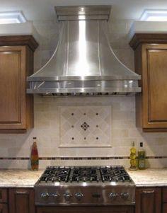 Backsplash Tile To Ceiling Behind Range Hood Kitchens