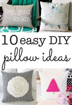 DIY Pillow ideas - ten ideas you can make in minutes