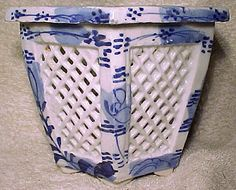 Hirado Pottery Blue and White Meiji Plant Jardiniere 1890 1900 Japan - Leshia Randles Gold Highlights, Green Carpet, Aesthetic Design, This Is Us Quotes, Japanese Pottery, Be Yourself Quotes, Stuff To Do, Blue And White