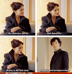 """""""this scene was great."""" - It really was.  There was something so satisfying (and kind of sexy) about seeing Sherlock get tongue-tied. ;)"""