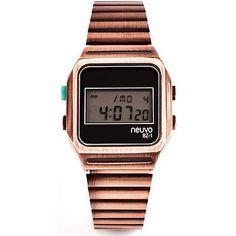 Brushed Metal Retro Digital Watch