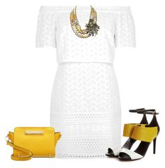 """""""Yellow in my sun!"""" by lollahs ❤ liked on Polyvore featuring Topshop, Heidi Daus and Miss Selfridge"""