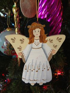 Christmas Decor ♥ 2 ♥ by Liz on Etsy  My angel made the cut:)