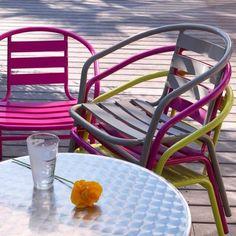 Chaise De Jardin En Métal Par 2 Hendaia Rouge Decoclico Jardin