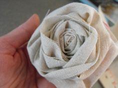 DIY Fabric Rosette - easy fabric flower sewing tutorial; craft project idea // Susie Harris