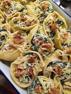 Gevulde pastaschelpen met spinazie_3