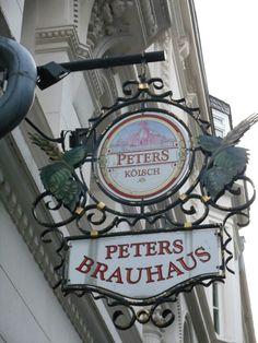 Iron sign Peter's Kölsch Brauhaus