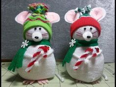 DIY~Adorable Christmas Mouse Made From Child's Dollar Tree Sock! EASY NO-SEW! - YouTube