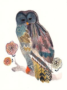 I don't particularly love the owl itself, But I love the way his(her?) wings are done