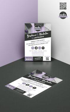 Flyer réalisé pour le lancement d'Aaska - A découvrir, mes prestations pour les particuliers & les entreprises ! #design graphique #illustration #aaska #Flyer #publicité #graphisme #graphiste #logo #identité #particuliers #faire part #carton #événement #naissance #baptême #mariage #professionnels #logo #charte graphique #plv #multimédia #print #dessin