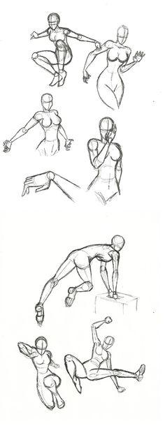Dynamic Pose practice by SykoZombieChick.deviantart.com on @deviantART
