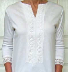 Split v tee shirt remade from crew neck