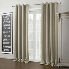 IYUEGO Wide Curtains 120Inch301Inch for Large Windows Warm Ivory Solid Grommet Top Blackout Curtains Drapes With Multi Size Customs 150 W x 102 L One Panel >>> Learn more by visiting the image link.