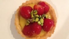 Shortcrust pastry tarts filled with delicious lemon curd, topped with fresh strawberries and pistachio nuts. Easy to make and absolutely fantastic! The finishing glaze on the strawberries is non-cornstarch based making for a wonderful experience of taste and texture.