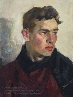 Painting I- Alla Prima portrait time! Isaak Tartakovoski Portrait of Young Man x oil on board Painting People, Figure Painting, Painting & Drawing, Painting Abstract, Painting Lessons, Illustration Vector, Portrait Illustration, Illustrations, Watercolor Illustration