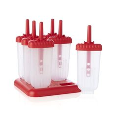Set of 6 Ice Pop Molds | Crate and Barrel