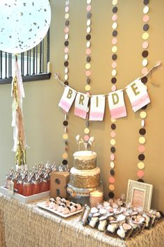 Rustic meets glam bridal shower. #partyplanning #bridal #shower #mamabrooksblog