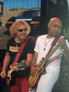 Sam & Vic shredding as usual♡☆ Van Hagar, Red Rocker, Sammy Hagar, Metal Stars, Face Down, Antique Toys, Rock Stars, Rockers, Cabo