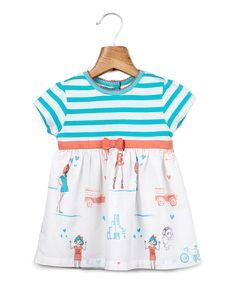 Look what I found on #zulily! Blue & White Stripe Body Dress - Infant & Toddler by Beebay #zulilyfinds
