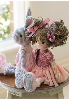 Mesmerizing Crochet an Amigurumi Rabbit Ideas. Lovely Crochet an Amigurumi Rabbit Ideas. Crochet Doll Pattern, Easy Crochet Patterns, Crochet Patterns Amigurumi, Amigurumi Doll, Crochet Dolls, Doll Patterns, Crochet Fairy, Crochet Bunny, Crochet Animals