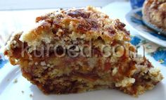 Насыпной яблочный пирог без яиц