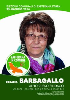 I nostri Candidati: Rosaria Barbagallo #ZafferanainComune #AlfioRussoSindaco