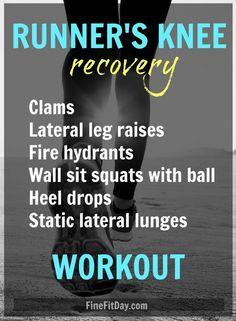 Run It - A Workout for Runner's Knee (plus 5 more workouts for running injuries! Running Injuries, Running Workouts, Running Tips, Running Club, Running Humor, Cycling Workout, Running Man, Running Training, Knee Strengthening Exercises