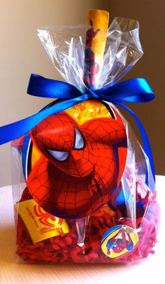 Check this out! She makes really good party favors for different themes. Pretty cool Spiderman theme.