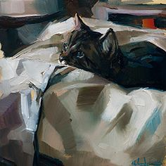 """Painting Companion I spent all day in my studio. Max was there also. This gesture and expression of his means…. """"I would be ready now to eat..."""