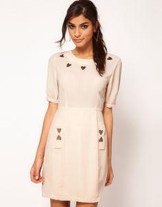 ASOS Mini Dress With Heart Applique