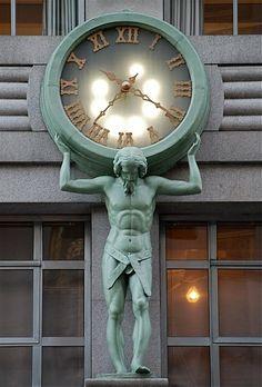 Tiffany & Co Clock, New York City, New York pinned with Bazaart