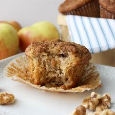 It's hard to believe there are only five ingredients in these wonderful little muffins! The brown sugar makes them taste like pecan pie. Chef Recipes, Muffin Recipes, Dessert Recipes, Breakfast Recipes, Bread Recipes, Cupcake Recipes, Dessert Ideas, Breakfast Ideas, Gourmet