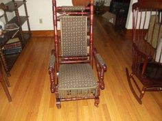 Antique Oak Glider Platform Rocker Wi Chair Co 1876