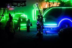 Techno Shaman with the Camp Walter Fleet. Burning Man 2014 Caravansary.  Progenitor Tech,  INSTAGRAM: @Progenitor_Tech #goggles #facepaint #warpaint #shaman #technoshaman #techno #uv #uvreactive #ultraviolet #glow #glowintgedark #lighting #commission #future #cyber #progenitortech #cybertech #technological #led #costume #cosplay #timetraveler #timetravel #multidimensional  #futureprimitive #blacklight #burningman #caravansary #burningman2014 #2014 #bigred #walterthebus #kalliopesoundstage
