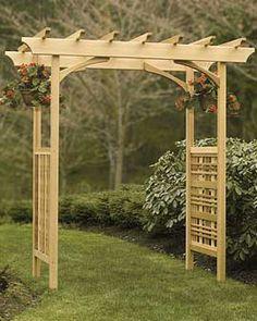 heritage cedar arbor from gardener's supply spans 60 in. (60.5 interior opening)