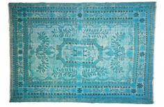 Tapis Turc Turquoise - Vintage